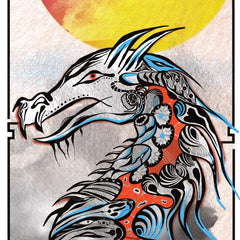 Chinese Dragon Tattoo Giant Wall Mural Art Vibrant Iconic Poster Kitchen A2