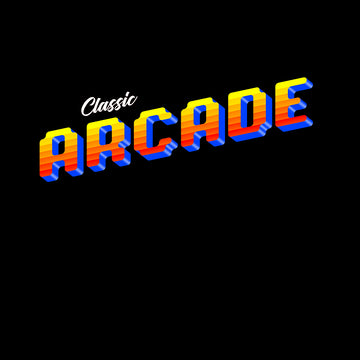 Vintage Arcade Sign Retro 80's Style Crew Neck White Tank Top