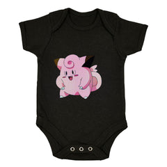 Clefairy Pokemon Go for Boys Girls Brand New Baby & Toddler Body Suit Black