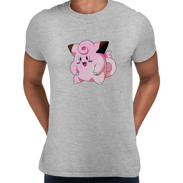Clefairy Pokemon Go Black White Grey Unisex T-Shirt Brand New Black
