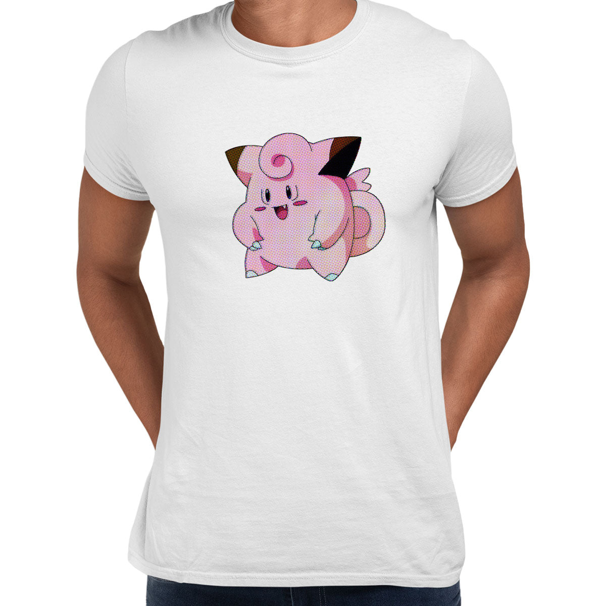 Clefairy Pokemon Go Black White Grey Unisex T-Shirt Brand New White