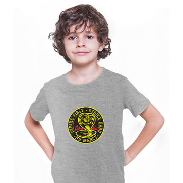 Cobra Kai T-shirt Karate Kid Movie Kung Fu Martial Arts Retro Gift Top Black Kids T-Shirt