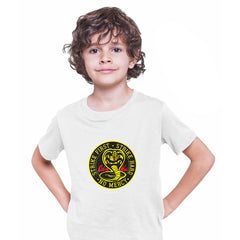 Cobra Kai T-shirt Karate Kid Movie Kung Fu Martial Arts Retro Gift Top White Kids T-Shirt