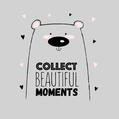 Collect Beautiful moments Animal Dog funny Quote Unisex White Tank Top