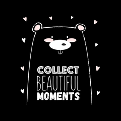 Collect Beautiful moments Animal Dog funny Quote Unisex Black Tank Top