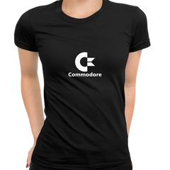 Commodore 80 Retro Gaming Console Black T-Shirts for Women OLD SKOOL
