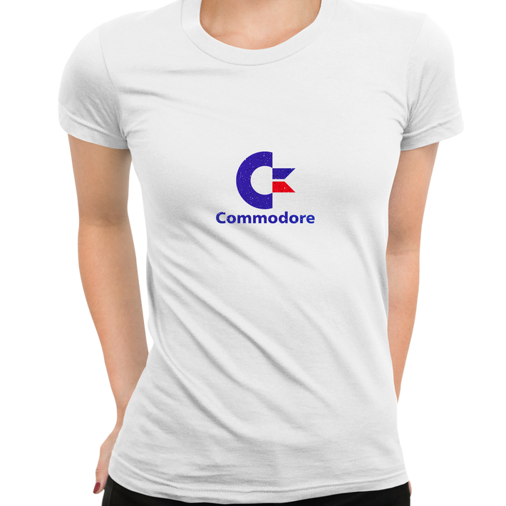 Commodore 80 Retro Gaming Console White T-Shirts for Women OLD SKOOL