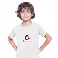 Commodore 80 Retro Gaming Console White T-Shirts for Kids Retro OLD SKOOL