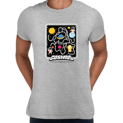 Cosmos Traveler Retro 8Bit Game Space shooter Unisex Grey T-shirt