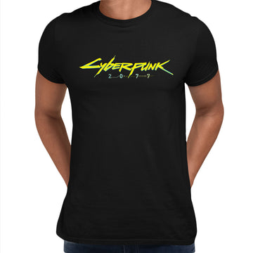 Cyberpunk 2077 Logo RPG Gaming Black White Grey XBox Play Unisex T-Shirt White