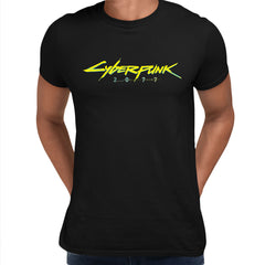 Cyberpunk 2077 Logo RPG Gaming Black White Grey XBox Play Unisex T-Shirt Black