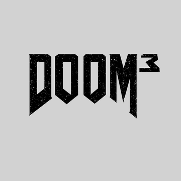 DOOM 3 Retro 3D Shooting Game Master Slayer Grey T-shirts for Women