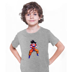 Dragon Ball Z Anime T-Shirt Goku Saiyan Power Level Bioworld Grey T-shirt for Kids
