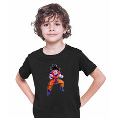 Dragon Ball Z Anime T-Shirt Goku Saiyan Power Level Bioworld Black T-shirt for Kids