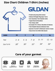 Kuzi Tees Children T-shirt Size Chart