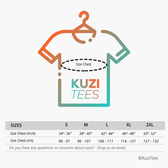 Kuzi Tees T-shirts Sizes