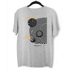 Error-404-Stay Chill Clubbing Nights Abstract Surreal Elements Crew Neck Grey T-shirt