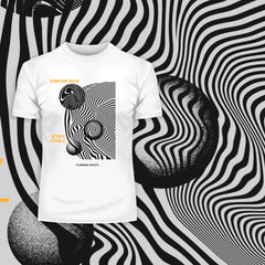 Error-404-Stay Chill Clubbing Nights Abstract Surreal Elements Crew Neck T-shirt