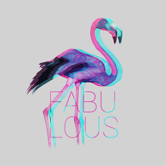WomenFabulous Flamingo Inspiring Beauty Ladies T Shirt