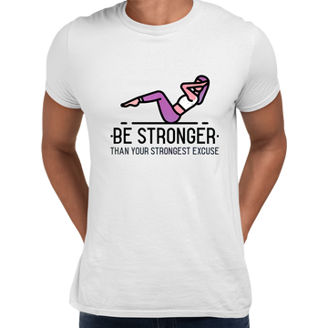 Fitness Be stronger Than your Strongest excuse Exercise Unisex Black T-shirt