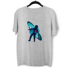 Floating astronaut through the Space Zero Gravity Grey T-Shirt