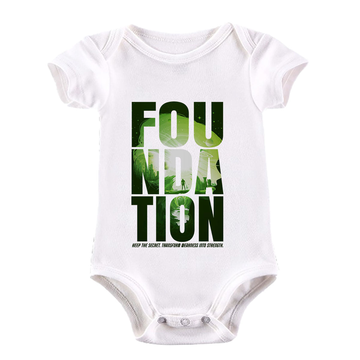 Isaac Asimov T-Shirt Foundation Empire Robot Android Science Fiction White Baby & Toddler Body Suit
