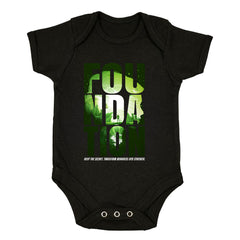 Isaac Asimov T-Shirt Foundation Empire Robot Android Science Fiction Black Baby & Toddler Body Suit
