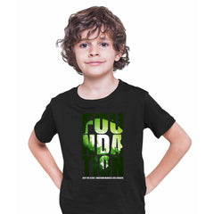 Isaac Asimov T-Shirt Foundation Empire Robot Android Science Fiction Black T-shirt for Kids