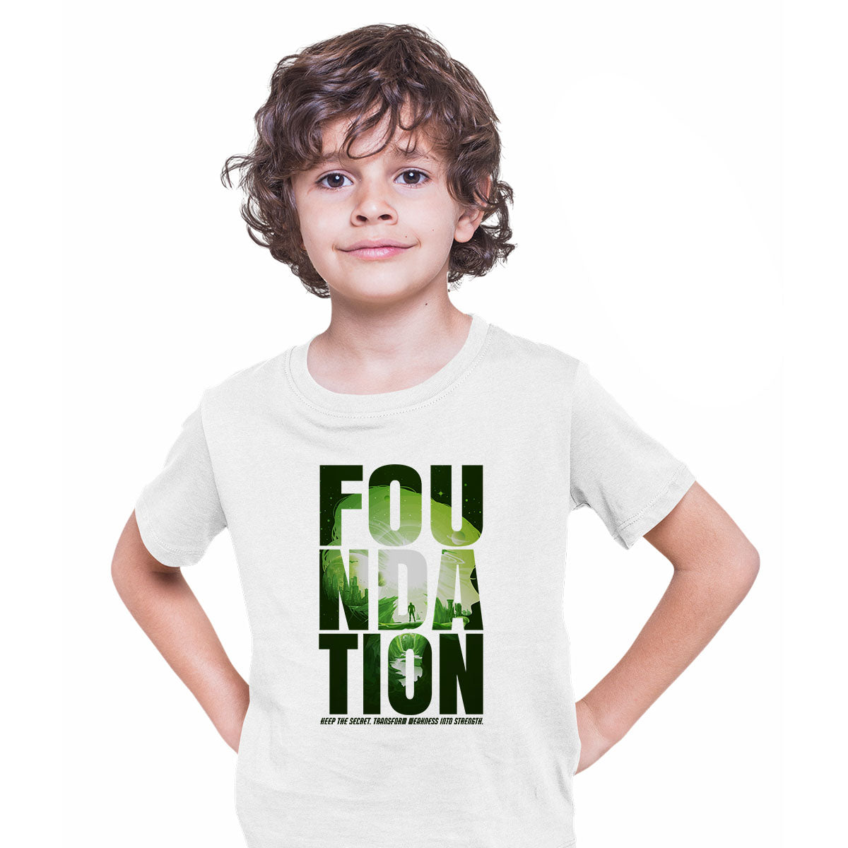Isaac Asimov T-Shirt Foundation Empire Robot Android Science Fiction White T-shirt for Kids