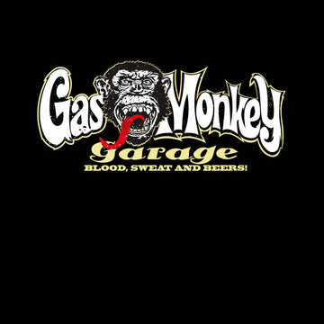 Gas Monkey Garage Blood Sweat and Beers Licensed Fast Loud Black Unisex Tank Top