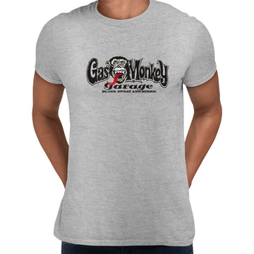 Gas Monkey Garage Blood Sweat and Beers Licensed Fast Loud Black Unisex T-Shirt