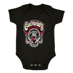 Gas Monkey Garage Spark Plugs Blood Sweat Beers Licensed Black Baby & Toddler Body Suit