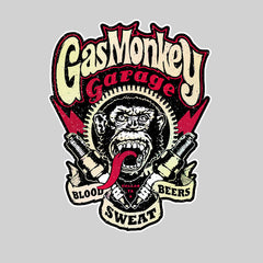 Gas Monkey Garage Spark Plugs Blood Sweat Beers Licensed White Unisex T-Shirt