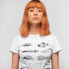 Kuzi Tees 100% Eco T-shirt - Hand Drawn Fish Collection