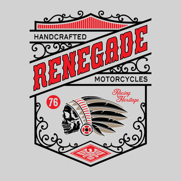 Biker Handcrafted Renegade Motorcycles Funny Skull Black Baby & Toddler Body Suit