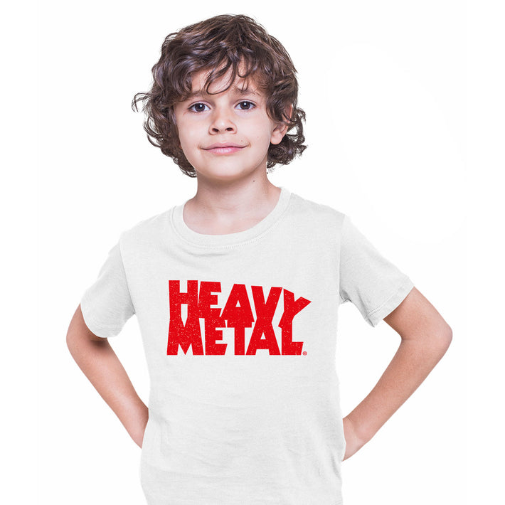 Heavy Metal Comic Book Tee Magazine Superhero comics science fiction & fantasy White Kids T-Shirt