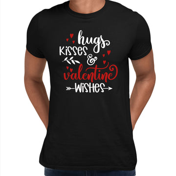 Hugs kisses and valentine wishes Valentines Love T-shirt for men Grey Unisex T-Shirt