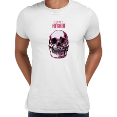 I Am Not Afraid Death Human Skull Design Free Delivery White Unisex T-shirt