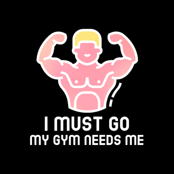 I Must Go - My Gym Need m Unisex Black Tank Top