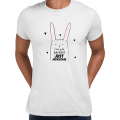 I am not perfect Just Awesome Funny Animal Quote T-shirt Print Unisex White T-shirt