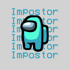 Impostor Among Us Gamer Xmas Funny Light Blue Viral Game Retro Baby & Toddler Body White Suit