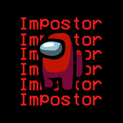 Impostor Among Us Gamer Xmas Funny Red Viral Game Retro Baby & Toddler Body Black Suit