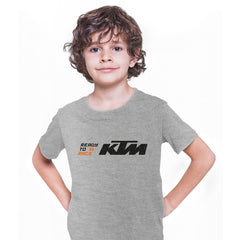 KTM Ready To Race T-Shirt Biker Motorcycle Rider Inspired Racing Bike Cycle Grey Kids T-Shirt