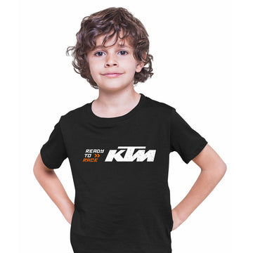 KTM Ready To Race T-Shirt Biker Motorcycle Rider Inspired Racing Bike Cycle White Kids T-Shirt