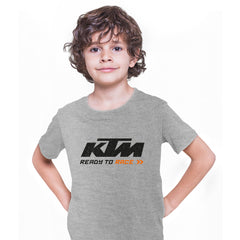 KTM T-SHIRT Ready to Race Inspired motorcycles ALL SIZES M79 Grey Kids T-Shirt