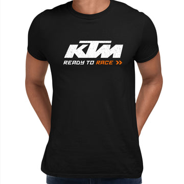 KTM T-SHIRT Ready to Race Inspired motorcycles ALL SIZES M79 White Unisex T-Shirt