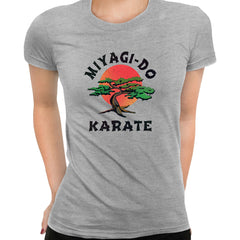 Karate Kid T-Shirt MIYAGI - DO Movie Daniel Cobra Kai TV 80 Retro Gift TEE UK Grey T-Shirt for Women