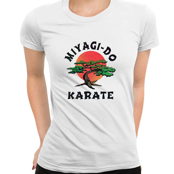 Karate Kid T-Shirt MIYAGI - DO Movie Daniel Cobra Kai TV 80 Retro Gift TEE UK Black T-Shirt for Women