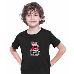 Keith Haring - Music Talking Heads Abstract Pop Art Black Kids T-Shirt