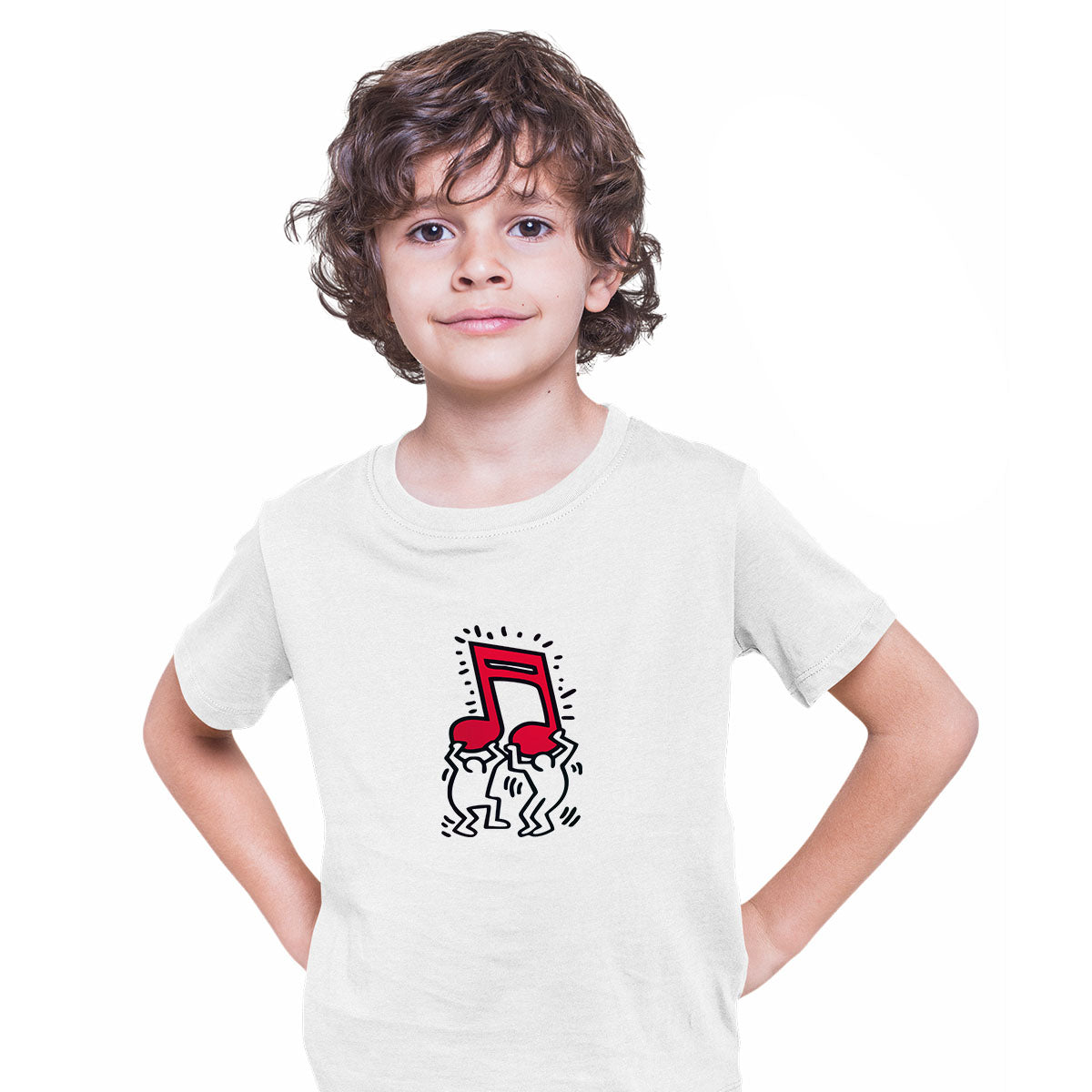 Keith Haring - Music Talking Heads Abstract Pop Art White Kids T-Shirt